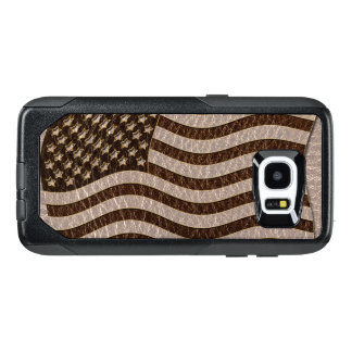 Leather-Look USA Flag Soft OtterBox Samsung Galaxy S7 Edge Case