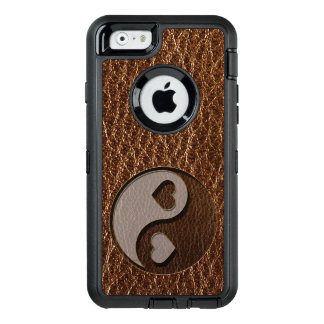 Leather-Look Yin Yang Heart OtterBox Defender iPhone Case