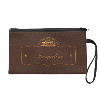Leather Luxury Name Bagette Bag