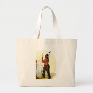 Leather pants Indian Large Tote Bag