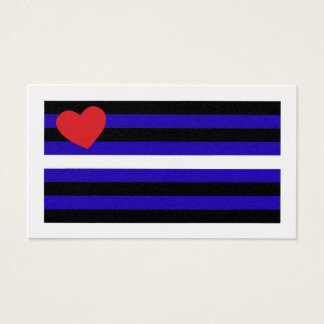 Leather Pride Flag Trick Card