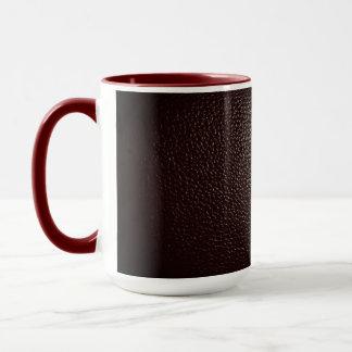 Leather red mug