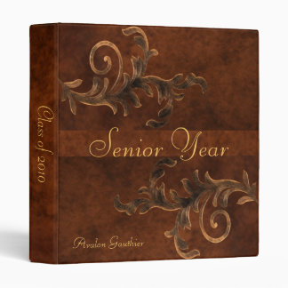 Leather Scroll Graduation Class of Senior Binder