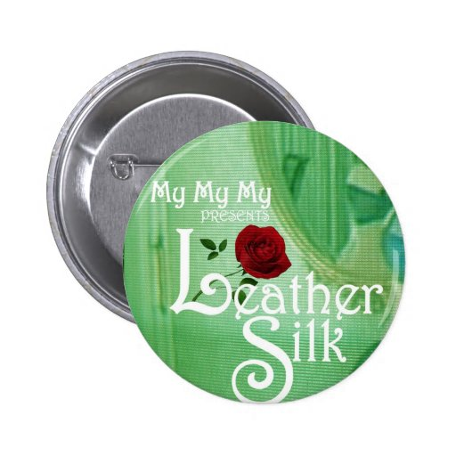 Leather Silk Cover 2 Inch Round Button