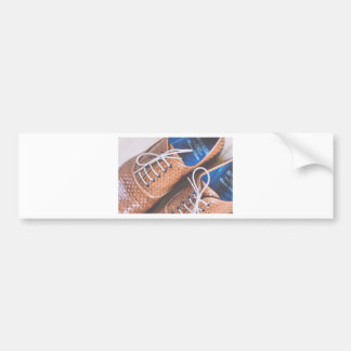 Leather Snakeskin Brown shoes Bumper Sticker