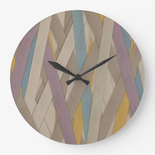 Leather straps clock