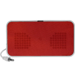 leather structure,red travel speakers