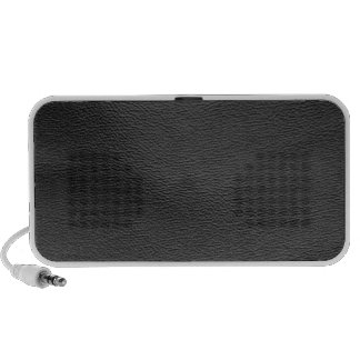 leather structure,silver iPod speakers