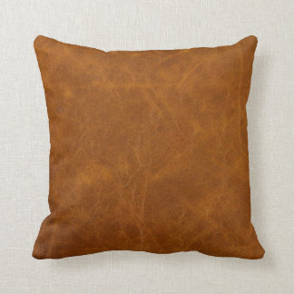 Leather Swatch Study Design #3 Throw Pillow