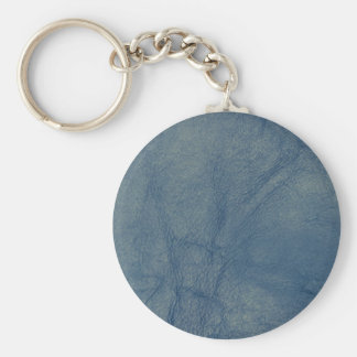 Leather texture closeup basic round button keychain