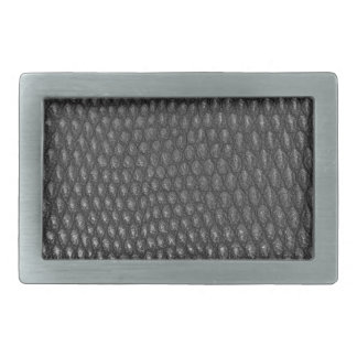 Leather texture closeup rectangular belt buckle