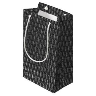 Leather texture closeup small gift bag