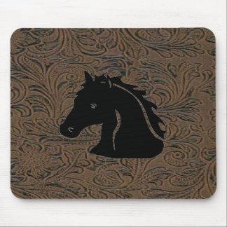 Leather Tool Print Design W/Horse Head Mousepad