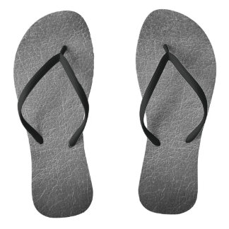 Leather Tribal Elephant Flip Flops
