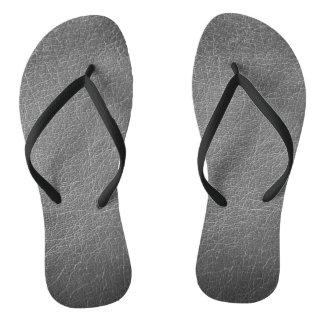 Leather Tribal Elephant Flip Flops