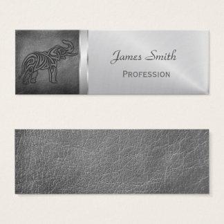 Leather Tribal Elephant Mini Business Card