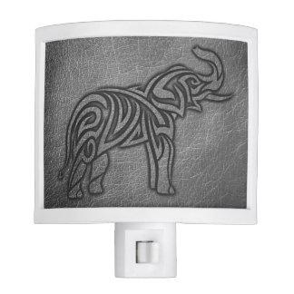 Leather Tribal Elephant Night Light