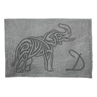Leather Tribal Elephant Pillowcase