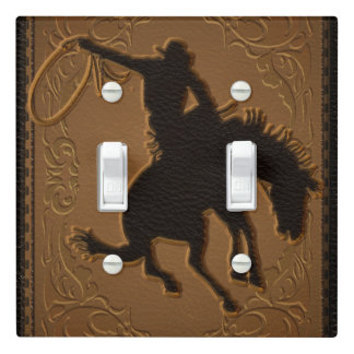 Leather Western Wild West Rustic Country Cowboy Light Switch Cover