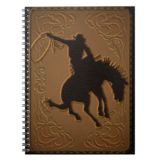 Leather Western Wild West Rustic Country Cowboy Notebook