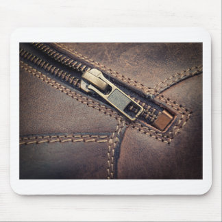 Leather zipper mouse pad