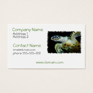 Leatherback Sea Turtle Business Card