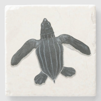 Leatherback Sea Turtle Stone Coaster