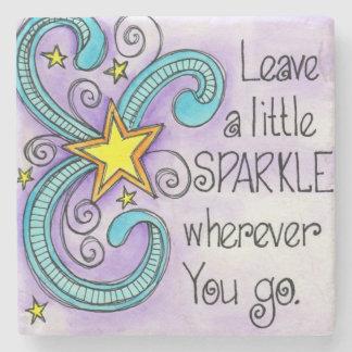 Leave A Little Sparkle Stone Coaster