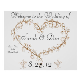 leave a note wedding poster