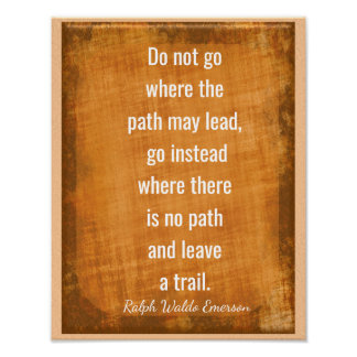 Leave a Trail -- Emerson Quote -- Art Print