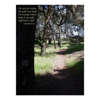 Leave a Trail Poster