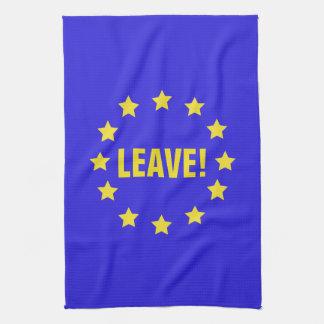 """""""Leave!"""" EU Flag/Brexit Tea Towel"""