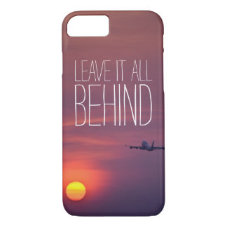 Leave it all behind sunset airplane wanderlust iPhone 7 case