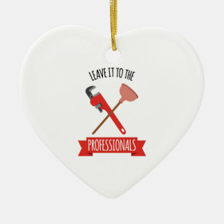 Leave It Ceramic Heart Ornament