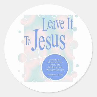 Leave it to Jesus Classic Round Sticker