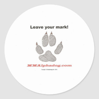 leave mark classic round sticker