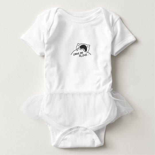 LEAVE ME ALONE, cute doodle Baby Bodysuit