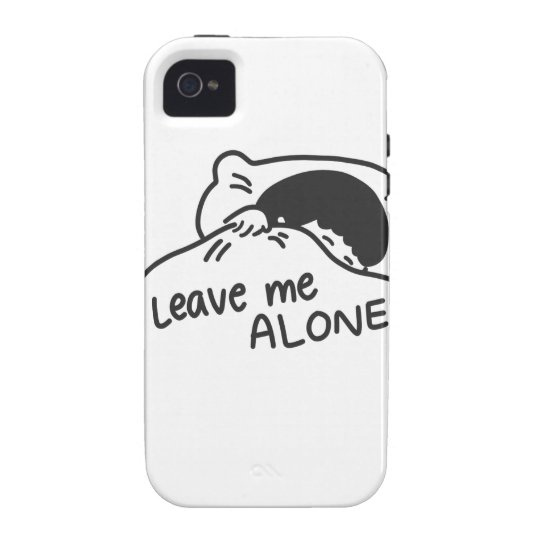LEAVE ME ALONE, cute doodle Case For The iPhone 4