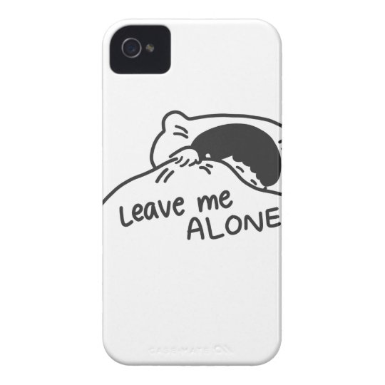 LEAVE ME ALONE, cute doodle iPhone 4 Case-Mate Cases