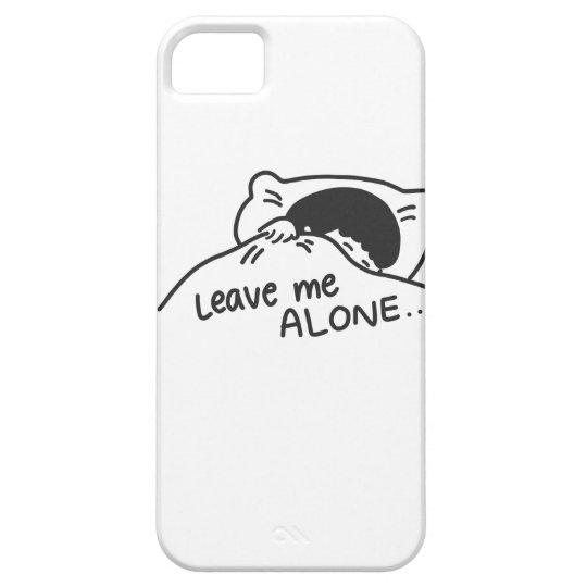 LEAVE ME ALONE, cute doodle iPhone 5 Case