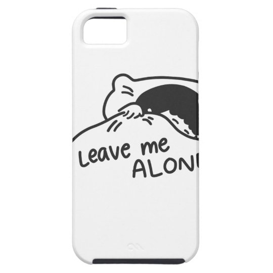 LEAVE ME ALONE, cute doodle iPhone 5 Cover
