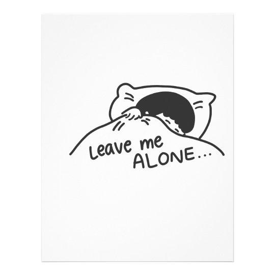 LEAVE ME ALONE, cute doodle Letterhead