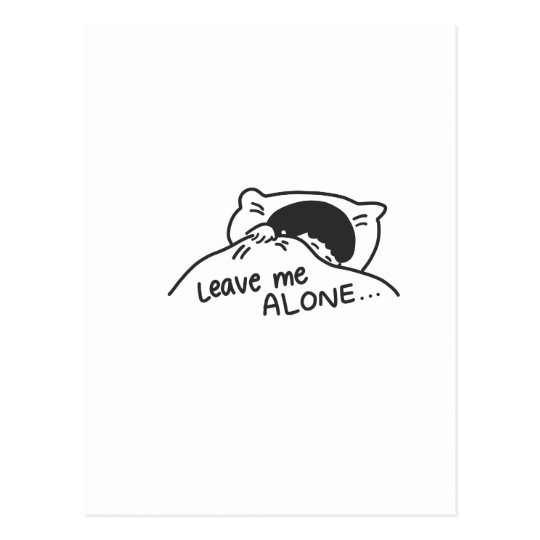 LEAVE ME ALONE, cute doodle Postcard