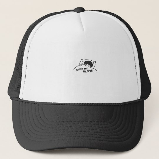 LEAVE ME ALONE, cute doodle Trucker Hat