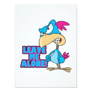 leave me alone grumpy silly bird 6.5x8.75 paper invitation card