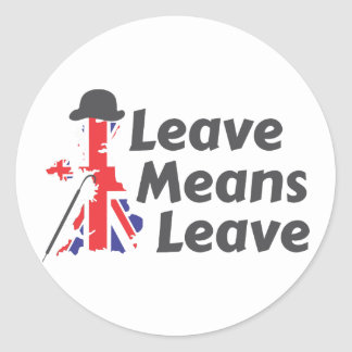 leave round sticker