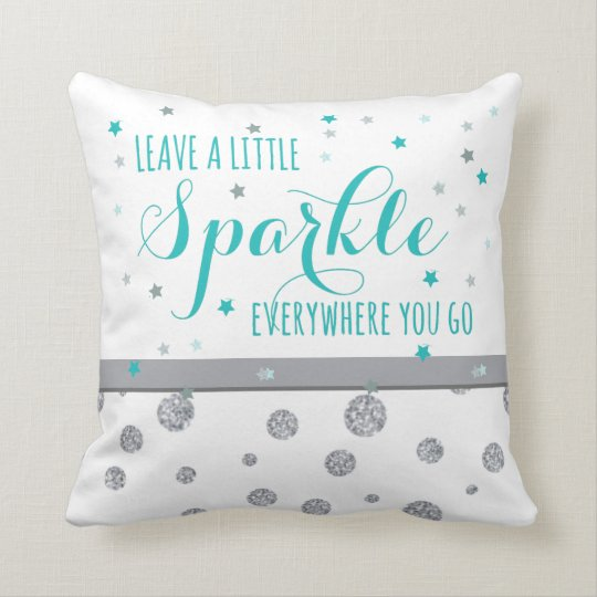 Leave Sparkle Throw Pillow