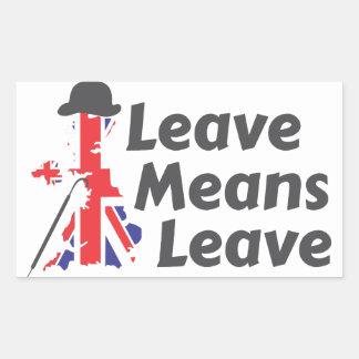 leave sticker