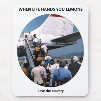 leave-the-country mouse pad