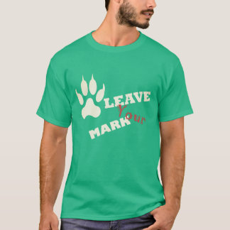 Leave Your Mark Lion Paw Print T-Shirt